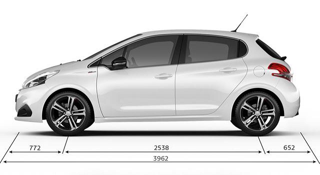 Caractéristiques Techniques de la Peugeot 208 I