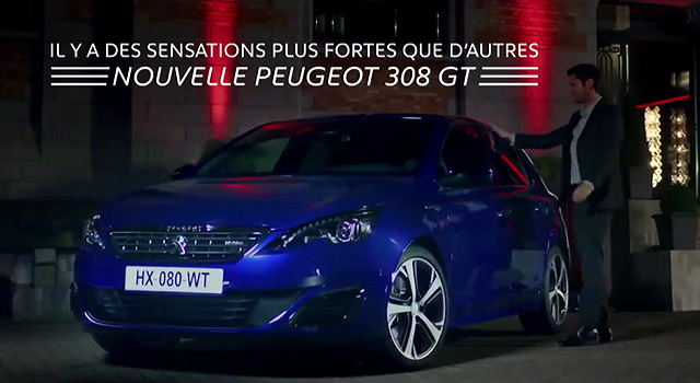 publicit tv peugeot 308 gt piment 2015 vid os f line. Black Bedroom Furniture Sets. Home Design Ideas