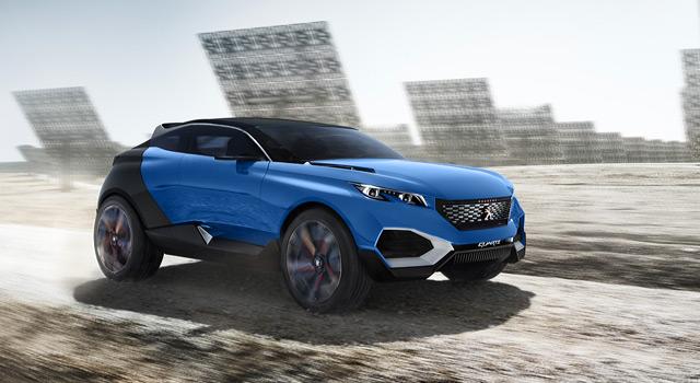 Peugeot Quartz Concept 2015 : les photos officielles
