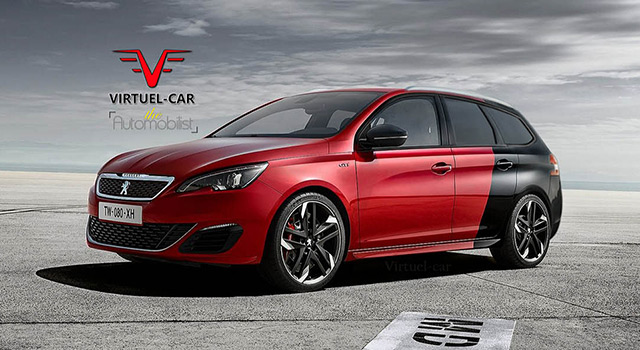 peugeot 308 sw gti by peugeot sport le break sportif news f line. Black Bedroom Furniture Sets. Home Design Ideas