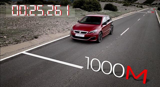 Accélération Peugeot 308 GTi by Peugeot Sport – 1.6 THP 270 ch (2015)