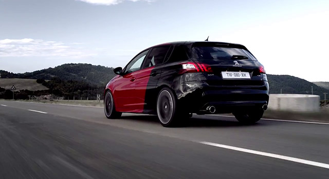 teaser dynamique peugeot 308 gti 270 by peugeot sport 2015 vid os f line. Black Bedroom Furniture Sets. Home Design Ideas