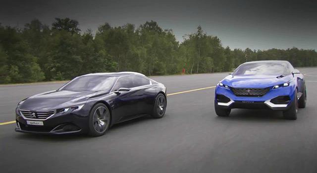 Vidéo : les concept-cars Peugeot Exalt et Quartz sur le circuit de Mortefontaine