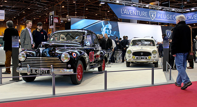 Photos : L'Aventure Peugeot au salon Rétromobile 2016