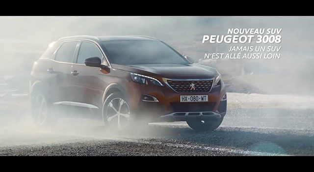 publicit tv peugeot 3008 ii r alit virtuelle 2016 vid os f line. Black Bedroom Furniture Sets. Home Design Ideas