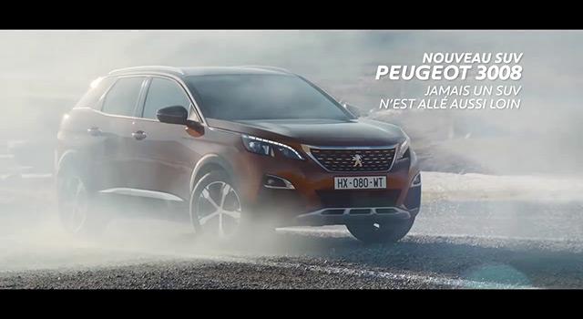 Publicité TV Peugeot 3008 II – « Réalité Virtuelle » (2016)