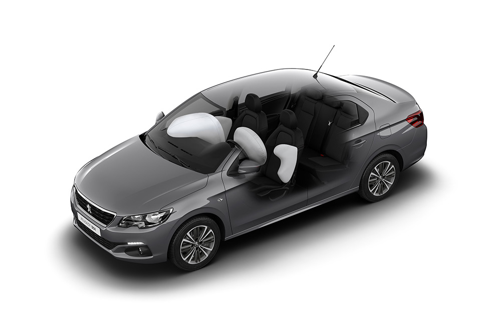 Photo airbags Peugeot 301 restylée (2016)