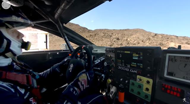 Vidéo 360° : à bord de la Peugeot 3008 DKR avec Sébastien Loeb !