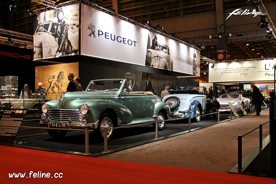 photos l aventure peugeot au salon r tromobile 2017 reportages f line. Black Bedroom Furniture Sets. Home Design Ideas