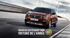 La nouvelle Peugeot 3008 est la Voiture de l'Année 2017 !