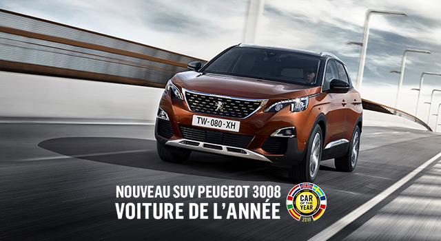 la nouvelle peugeot 3008 est la voiture de l 39 ann e 2017 news f line. Black Bedroom Furniture Sets. Home Design Ideas