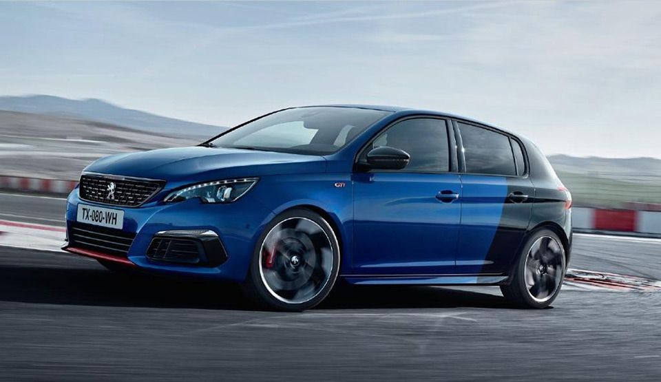 peugeot 308 gti restyl e une premi re photo officielle news f line. Black Bedroom Furniture Sets. Home Design Ideas