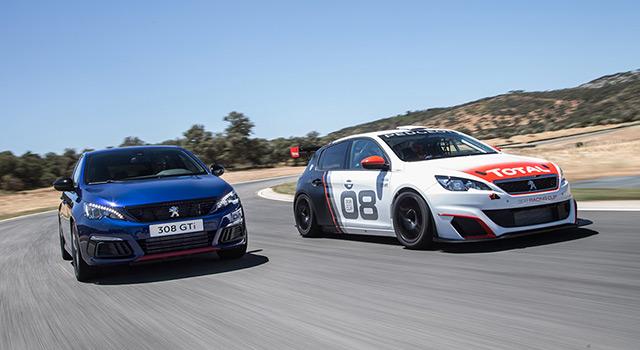 Photos officielles des essais des Peugeot 308 GTi restylée et 308 Racing Cup !