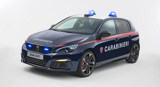 Italie : les Carabinieri roulent désormais en Peugeot 308 GTi !