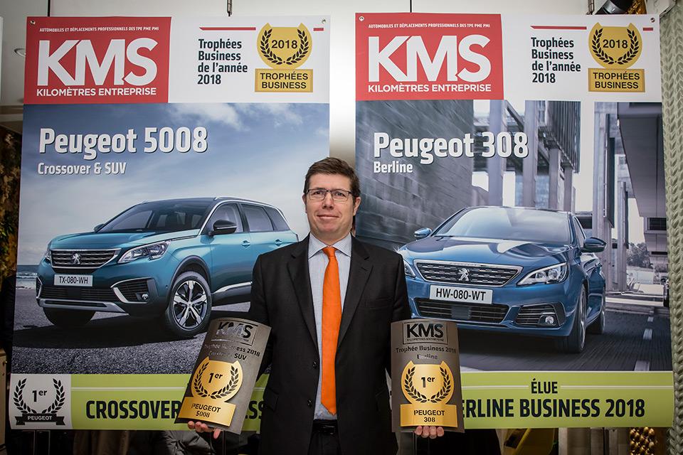 Les Peugeot 308 et 5008 élues « Voitures Business de l'Année 2018 » !