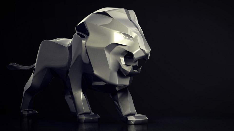 une sculpture monumentale du lion peugeot au salon de gen ve 2018 news f line. Black Bedroom Furniture Sets. Home Design Ideas