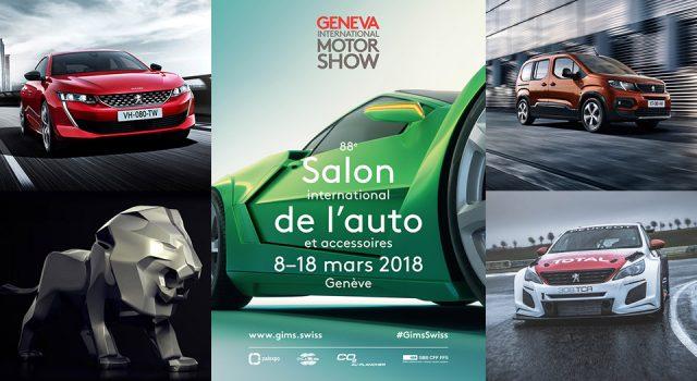 Peugeot au Salon de l'automobile de Genève 2018