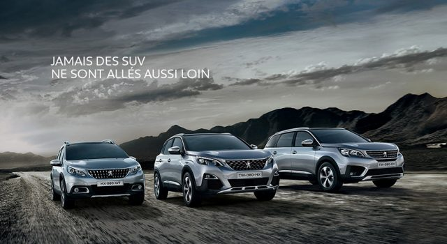 Chiffres de ventes mars 2018 : Peugeot domine le segment des SUV