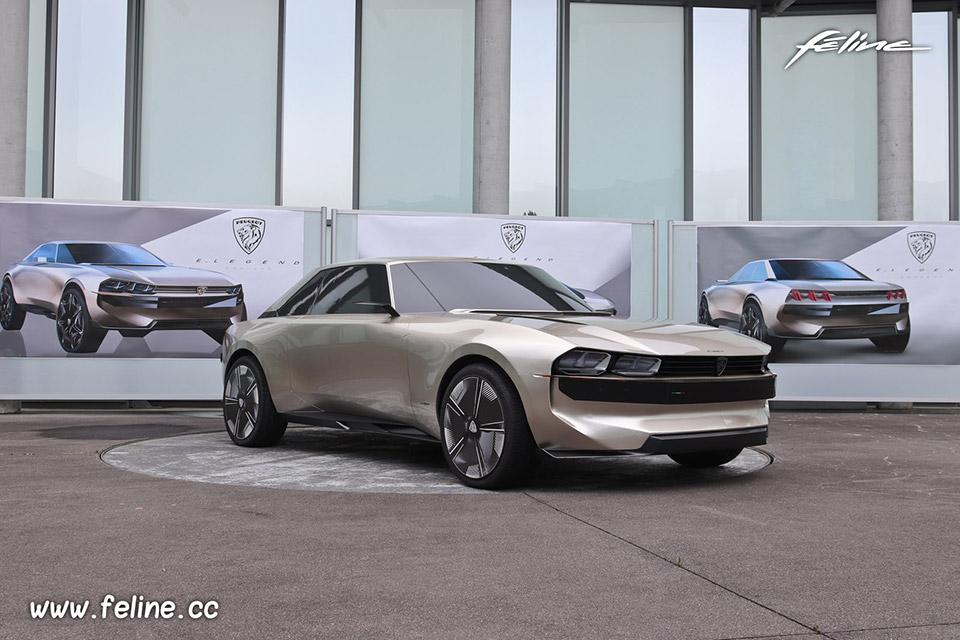 Photo maquette Peugeot e-Legend Concept (2018)