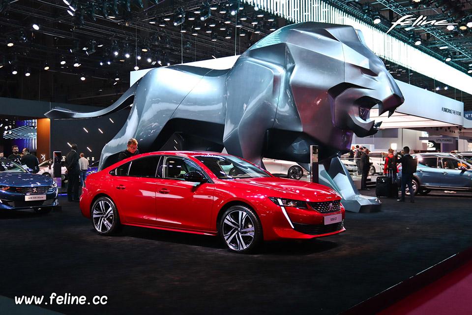 Photos Peugeot 508 au Mondial de l'Auto de Paris 2018