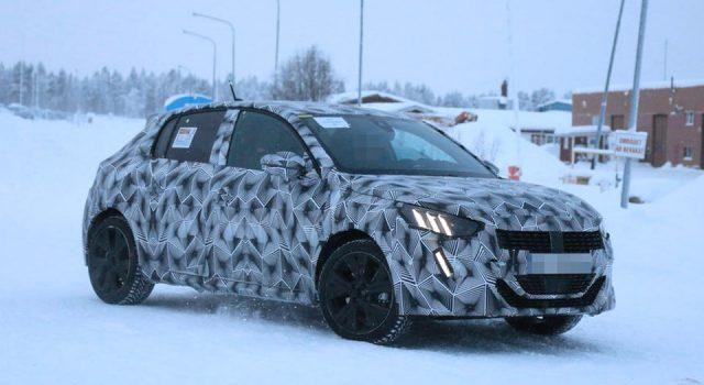 Photos espion : la nouvelle Peugeot 208 II électrique en cours d'essais !