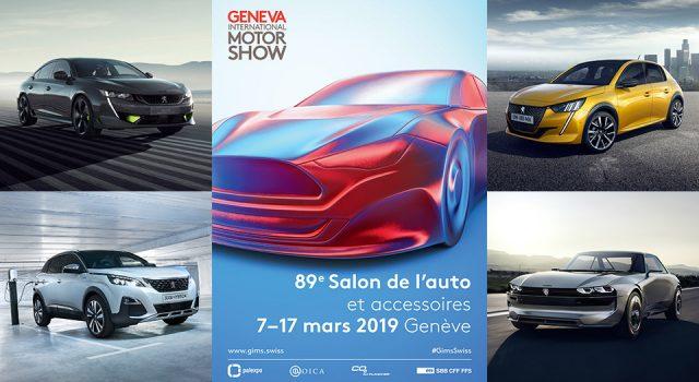 Peugeot au Salon de l'automobile de Genève 2019