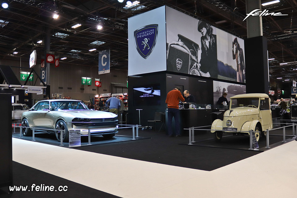 photos l aventure peugeot au salon r tromobile 2019 reportages f line. Black Bedroom Furniture Sets. Home Design Ideas