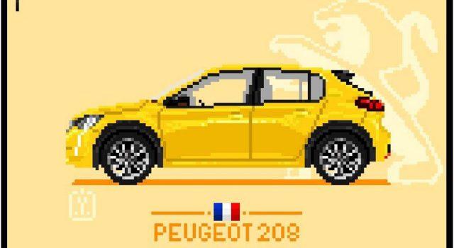 Insolite : les modèles Peugeot déclinés en Pixel Art !