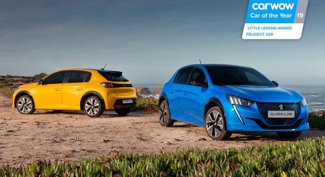 Les Peugeot e-208 et 208 II reçoivent le prix «Little Legend» 2019 au Royaume-Uni !