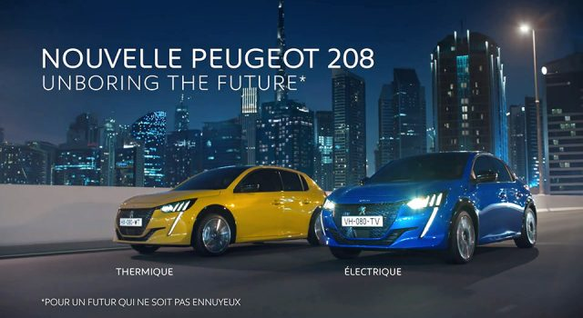 Publicité TV Peugeot 208 II – « Pour ceux en avance sur leur temps » (2019)