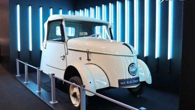 Photo Peugeot VLV (1941) électrique – Salon Rétromobile 2020