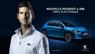 Peugeot e-208 : nouvelle publicité TV avec Novak Djokovic ! (2020)