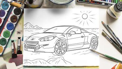 Coronavirus : des coloriages de modèles Peugeot pour les enfants
