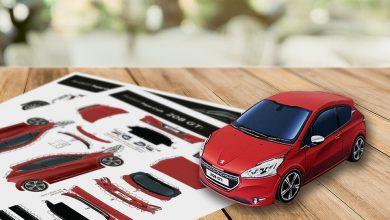 Coronavirus : des maquettes en papier de modèles Peugeot à assembler