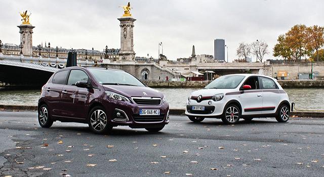 Essai comparatif Peugeot 108 et Renault Twingo 3