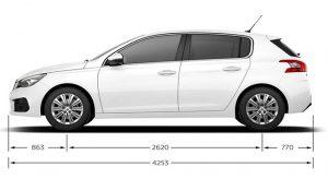 Caractéristiques Techniques de la Peugeot 308