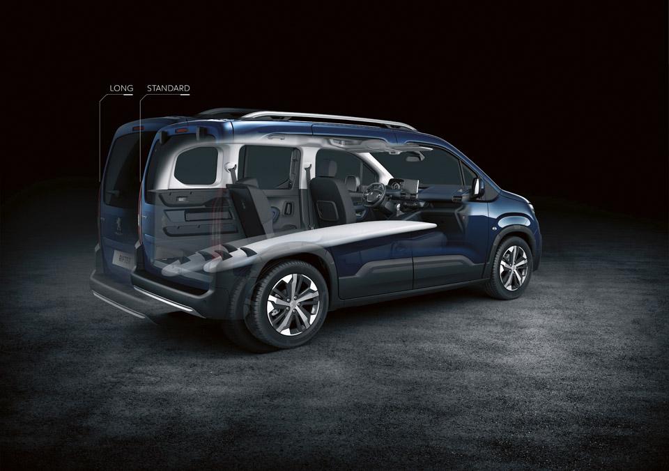Photo modularité Peugeot Rifter