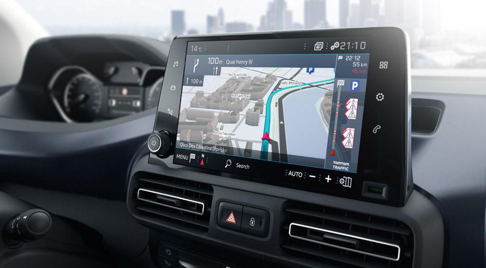 Photo écran tactile Peugeot Rifter