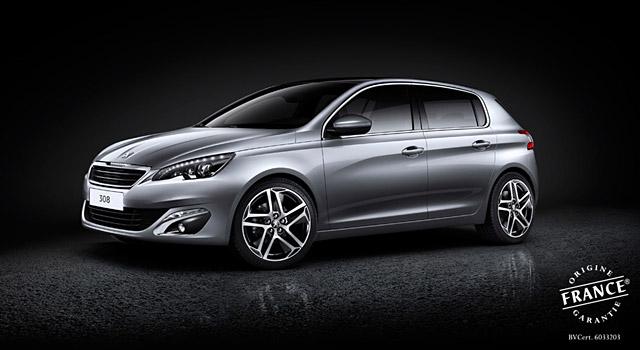 La nouvelle Peugeot 308 recoit le label « Origine France Garantie »