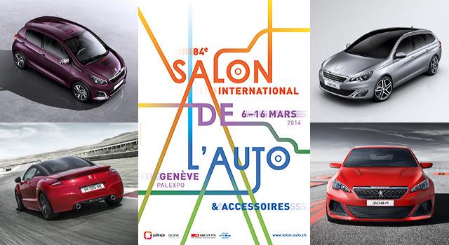Peugeot au salon de l automobile de gen ve 2014 news f line - Salon de l automobile 2014 ...