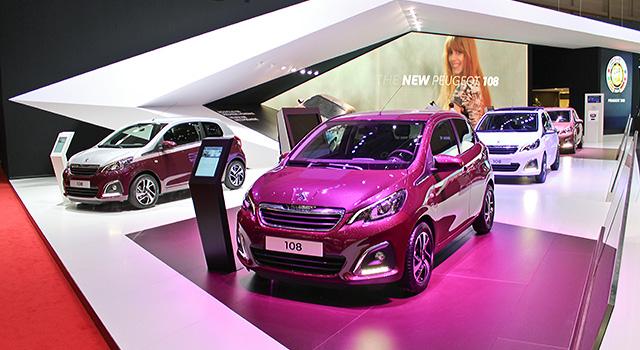Photos : la nouvelle Peugeot 108 au Salon de Genève 2014