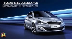 La nouvelle Peugeot 308 est la Voiture de l'Année 2014 !