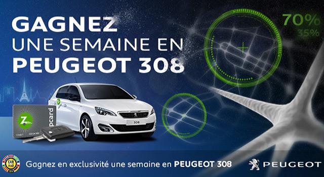 Gagnez une semaine en Peugeot 308 avec Zipcar !