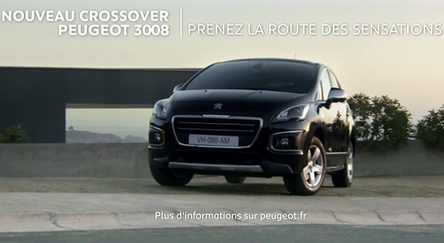 publicit peugeot 3008 prenez la route des sensations 30s 2014 vid os f line. Black Bedroom Furniture Sets. Home Design Ideas