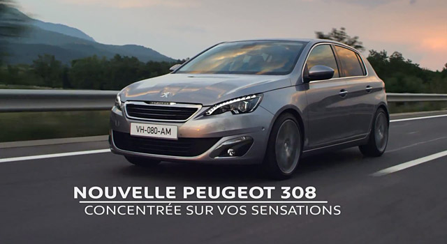 publicit tv peugeot 308 ii concentr e sur vos sensations 2013 f line. Black Bedroom Furniture Sets. Home Design Ideas