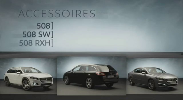 accessoires peugeot 508 restyl e vid o officielle 2014 vid os f line. Black Bedroom Furniture Sets. Home Design Ideas