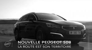 Publicité Peugeot 508 restylée – « La route est son territoire » (30s) - 2014