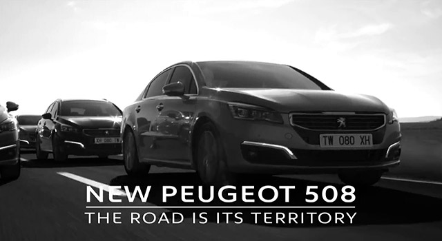 publicit peugeot 508 restyl e la route est son territoire 60s 2014 vid os f line. Black Bedroom Furniture Sets. Home Design Ideas
