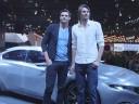 Vidéo : Florent Manaudou et Camille Lacourt sur le stand Peugeot du Mondial de Paris 2014