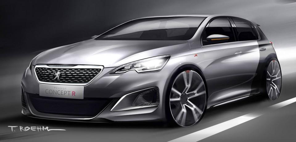 Sketch Officiel Exclusif Peugeot 308 R Concept 2013 2 001